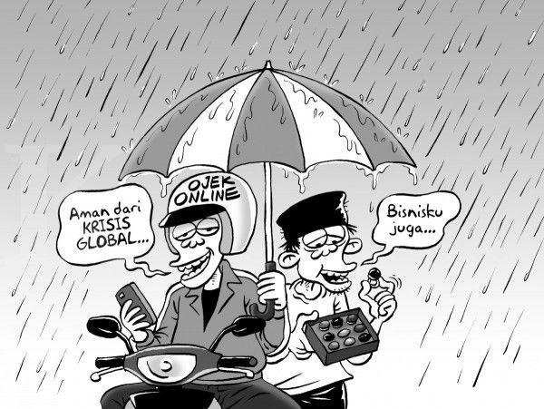 Kartun Benny, Kontan - Agustus 2015: Penggerak Ekonomi Saat Krisis