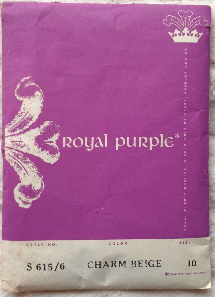 Rare Vintage Royal Purple Fully Fashioned Nylon Stockings 10 Free Organza BAG | eBay