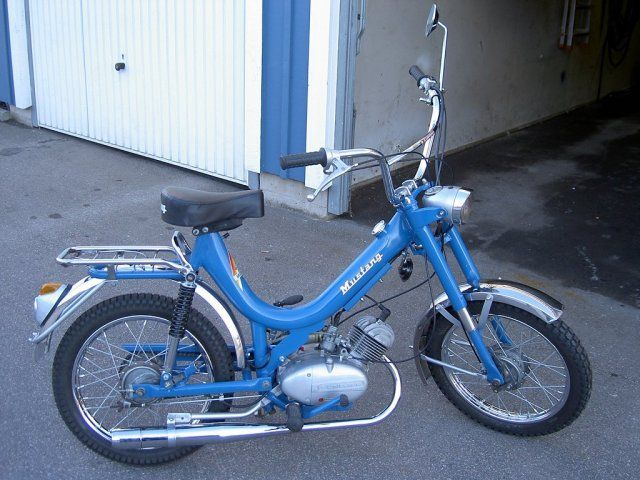 Mustang Mamba- My very first moped but all silver. Ahh, the memories.