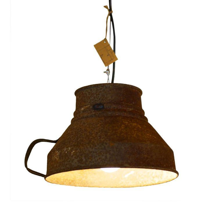 Industrial pendant lighting.