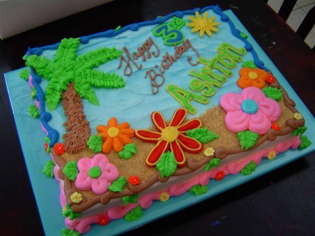 Image result for hawaiian luau cake ideas