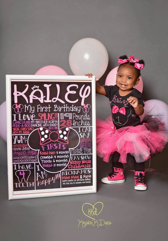 Hey, I found this really awesome Etsy listing at https://www.etsy.com/ca/listing/216203103/minnie-mouse-first-birthday-chalkboard