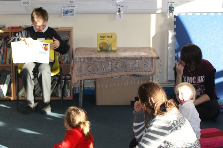Reading the story to Early Years on Takeover Day, daunting but job well done!