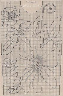 Цветы\вышивка по вязке ....................................... - Всем, кто вяжет, дарю старые идеи для новых работ