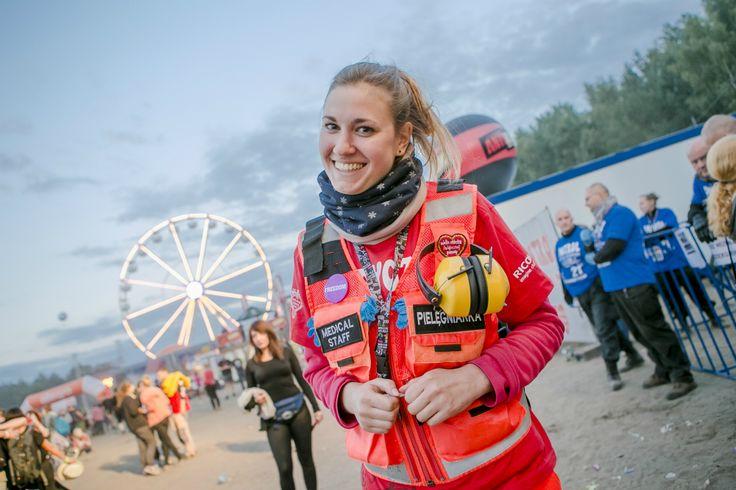 Jedna z naszych ratowniczek z Medycznego Patrolu na 21. Przystanku Woodstock. Fot. Piotr Barbachowski