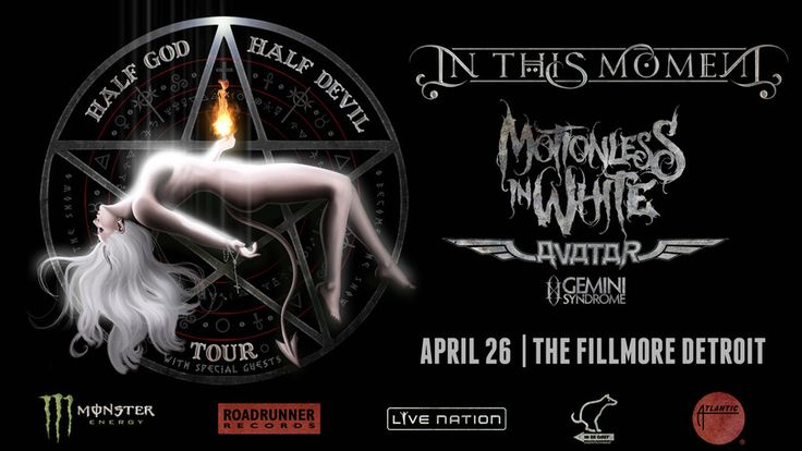 I just entered for a chance to win 2 tickets to see In This Moment at The Fillmore Detroit on April 26th!