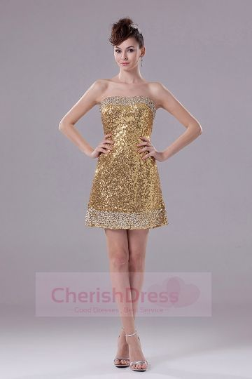 Mini Shining Sequins Dress Shining Sequins Dress #Cherishdress#
