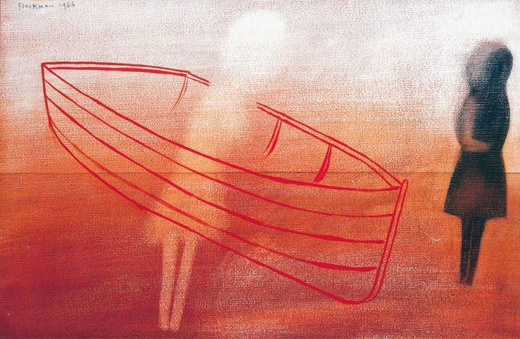 Two Figures and a Boat - CHARLES BLACKMAN