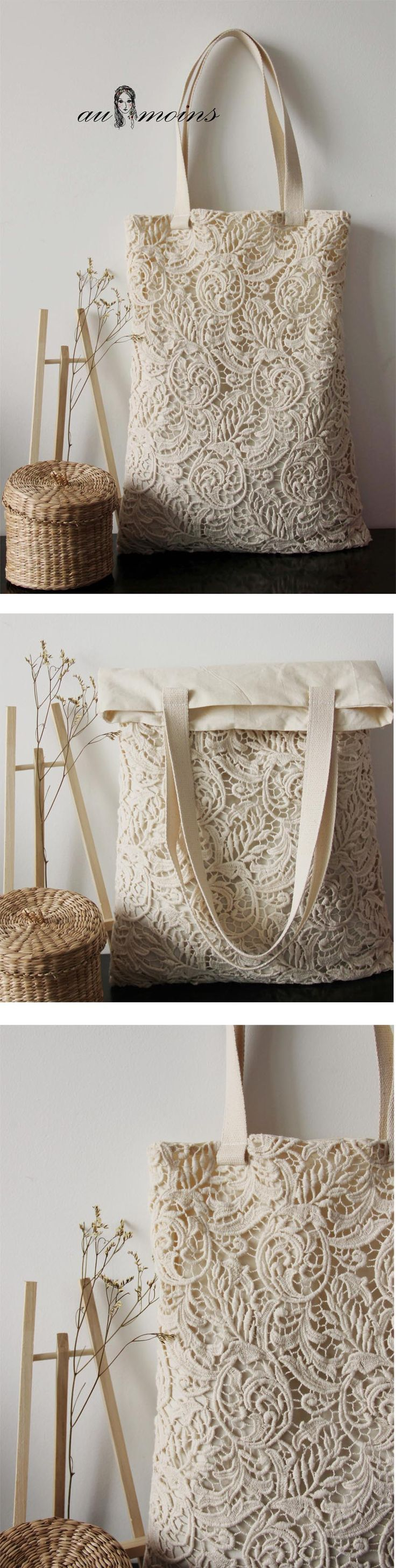 lace idea! very nice tote bag