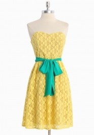 sunshine complete sunshine!Summer Dresses, Colors Combos, Spring Dresses, Style, Bridesmaid Dresses, Clothing, Easter Dresses, Tube Dresses, Bright Colors