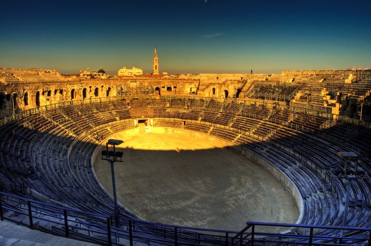 Nimes: When I visited Nimes, I loved how well preserved the historic centre of the town is. Make sure to check out the Roman Arena while your there… its one of the largest left in the world!  15 Spectacularly Beautiful Places You Must Visit In France! - Hand Luggage Only - Travel, Food & Home Blog
