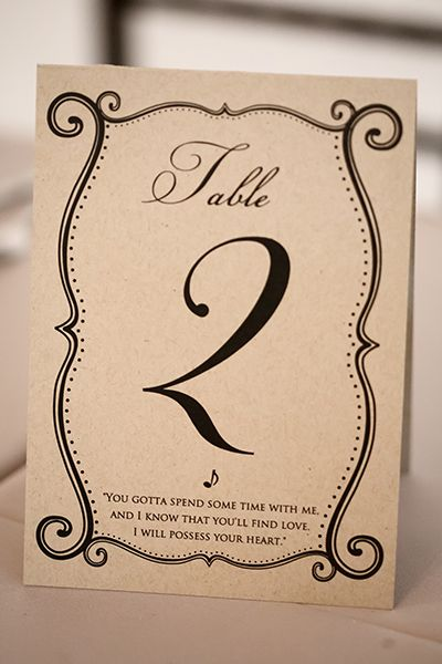 17 best images about table seat number ideas for our for Table quotes