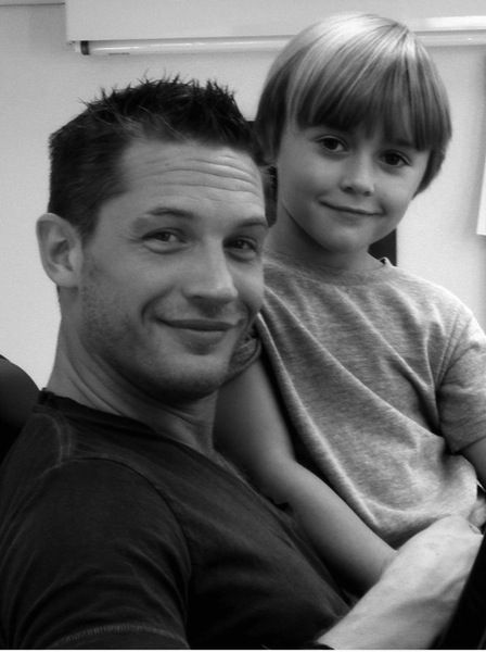 Tom Hardy and the boy who played his son in This Means War