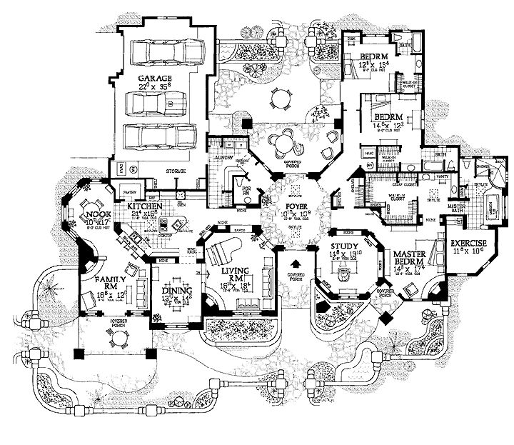 gothic mansion floor plans photo - Mansion House Plans