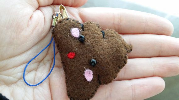 poop keychain phone strap kawaii by Kats13stuff on Etsy