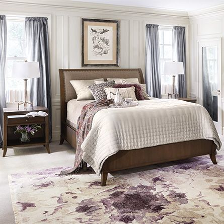 Addison Upholstered Bed in Linen And Natural l Arhaus ...