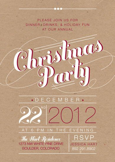 rustic christmas invite - Google Search