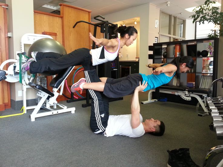 Try this: Acroyoga with three peeps!