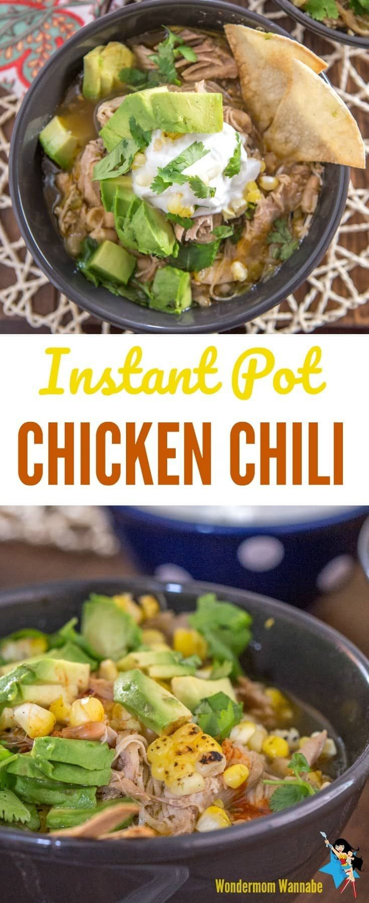 This Instant Pot White Chicken Chili is so yummy and perfect for those days when you want comfort food but don't want to feel guilty either. I love the Tex Mex flavors in this dish too!