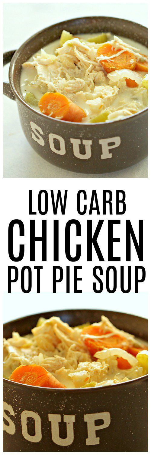 Low Carb Chicken Pot Pie Soup – Six Sisters' Stuff | If you or someone in your family is trying to trying to eat low carb, they are going to LOVE this soup! It's loaded with flavor and veggies, tastes amazing, and only takes 30 minutes to make . . . you won't even miss the carbs! #souprecipe #recipe #comfortfood