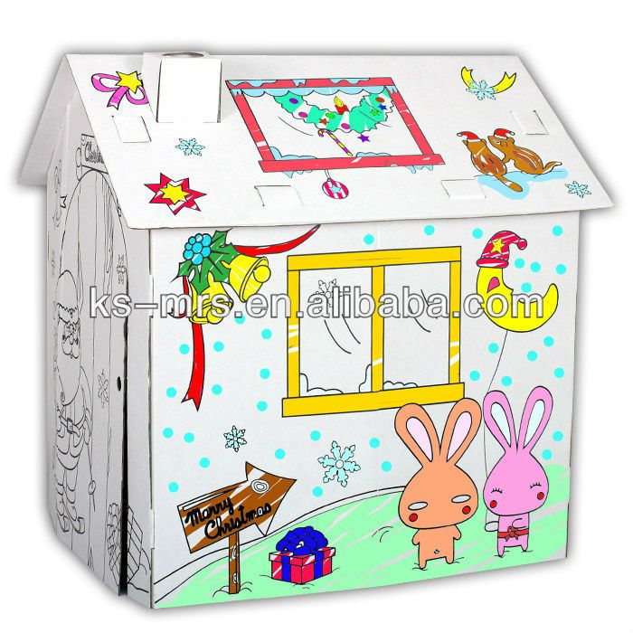 #corrugated cardboard playhouse, #cardboard playhouses for kids, #cheap wooden playhouse