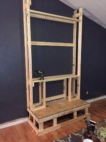 DIY Pallet Wood Fireplace