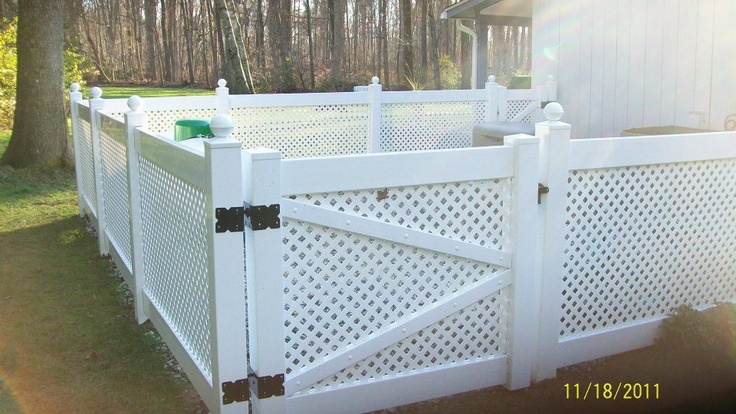 Screening In A Standby Generator Vinyl Fence Pinterest