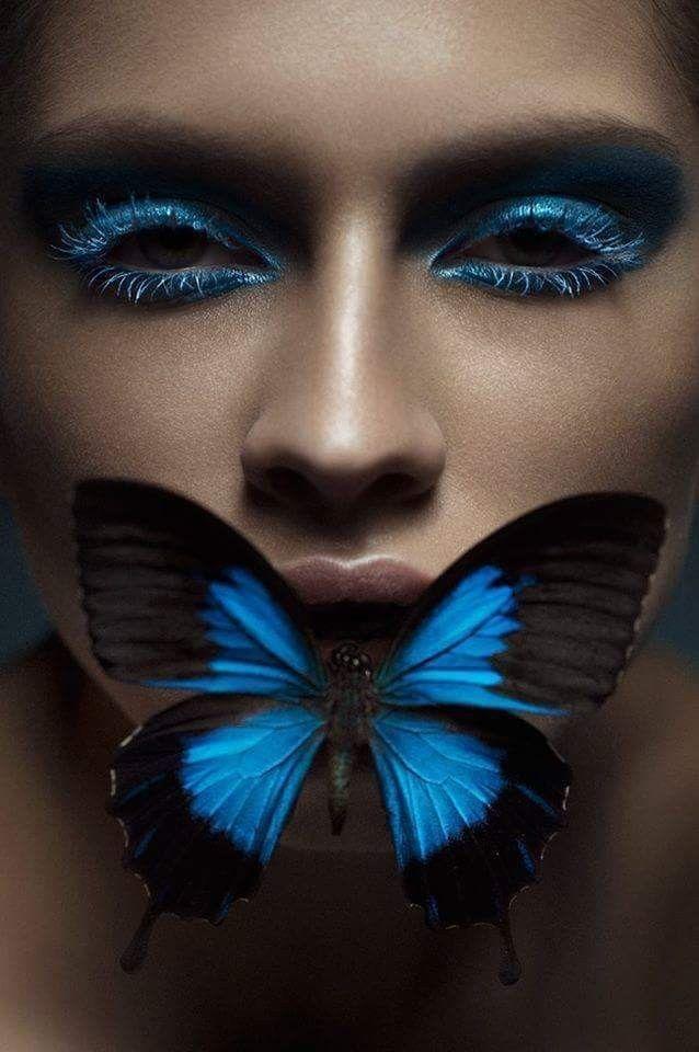 Картинки с бабочками на лице