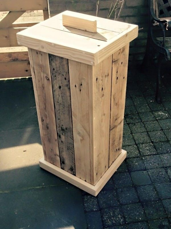 Diy Pallet Garbage Bin Home Decor Garbage Containers