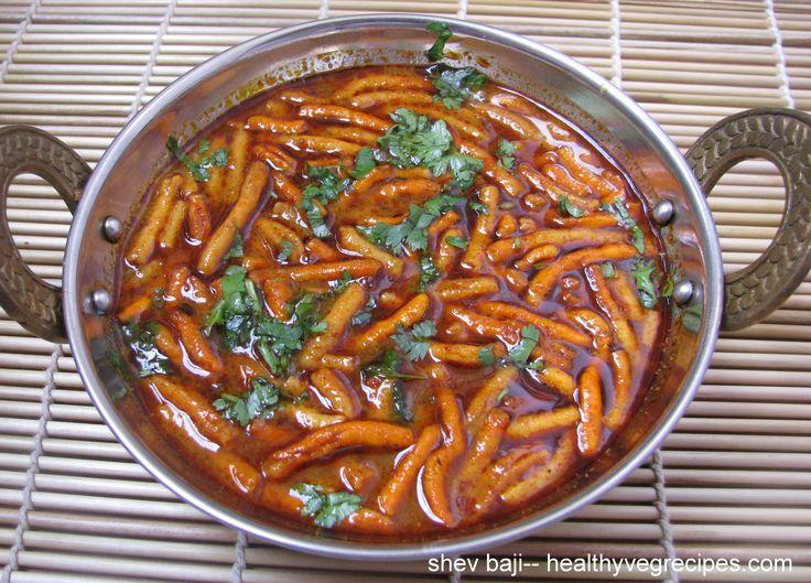 how to make shev bhaji