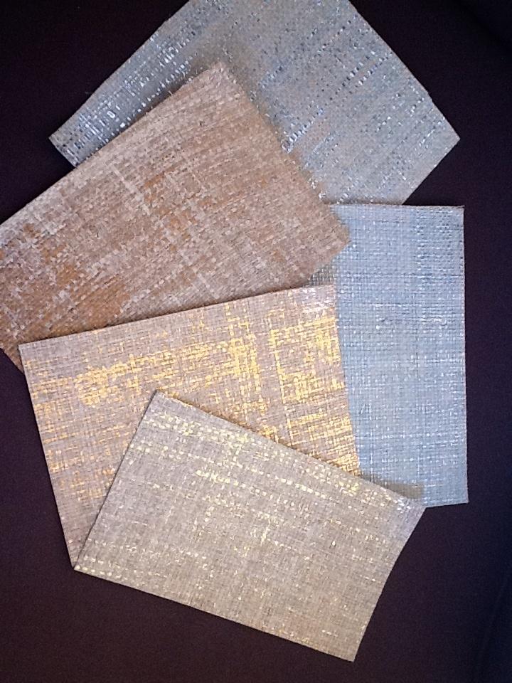 metallic grasscloth wallpaper from Crezana Design in Southampton