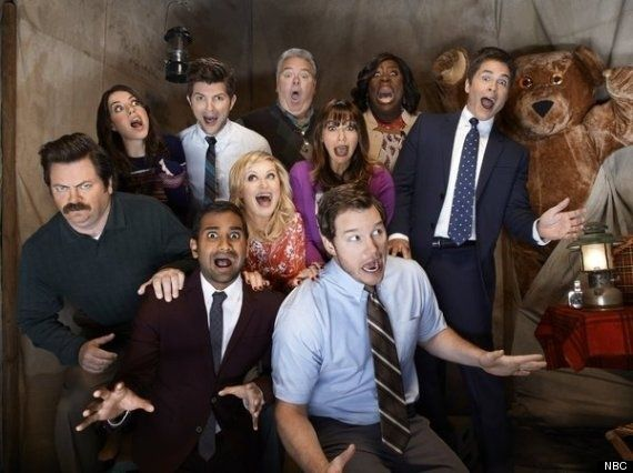 "Watch The ""Parks And Rec"" Cast Celebrate Their 100th Episode"