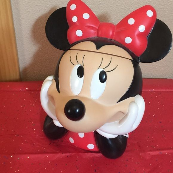 Minnie Mouse Plastic Candy Jar Minnie Mouse Plastic Candy Jar Applause Other