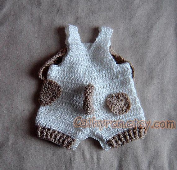 Baby Puppy Overall ShortiesShortall Buttons at by CathyrenDesigns