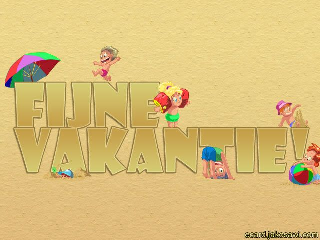 fijne vakantie 1302<br>spelende kinderen<br>fijne vakantie
