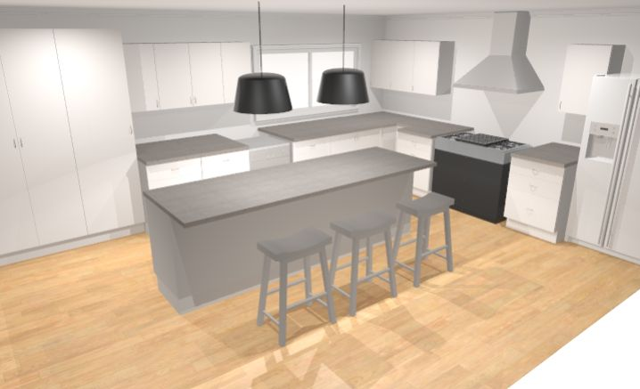 First drawing for new kitchen