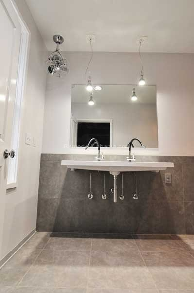 Contemporary urban master bath with floating vanity  Case Design Remodeling  Birmingham  AL. 1000  images about Bathroom Makeovers on Pinterest   Shaker style