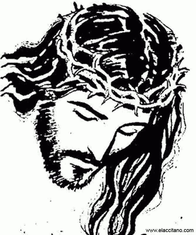 Dibujo de Jes?s con la corona de espinas