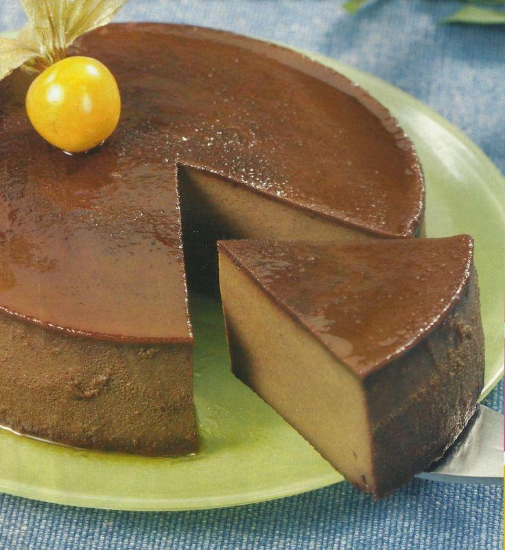 Flan de Chocolate - http://www.receitassimples.pt/flan-de-chocolate/