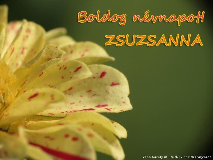 Boldog névnapot, Zsuzsanna!