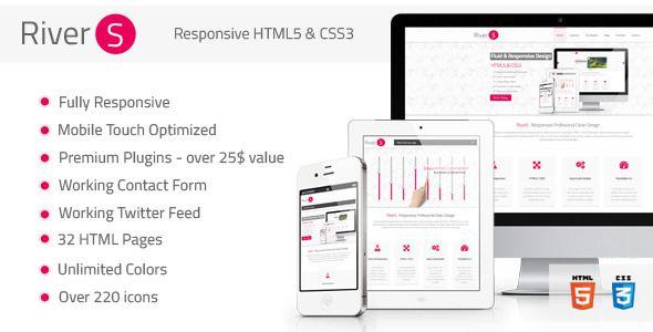 Rivers Responsive Premium Multipurpose HTML5 - ThemeForest Item for Sale