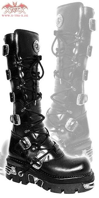 ($315) New Rock Boots - Boots 'Pretender' - Bargain Boots & Rangers: XtraX Underground Fashion: Gothic