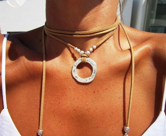 Envuelva el collar collar de mínima joyas Boho joyas de por kekugi