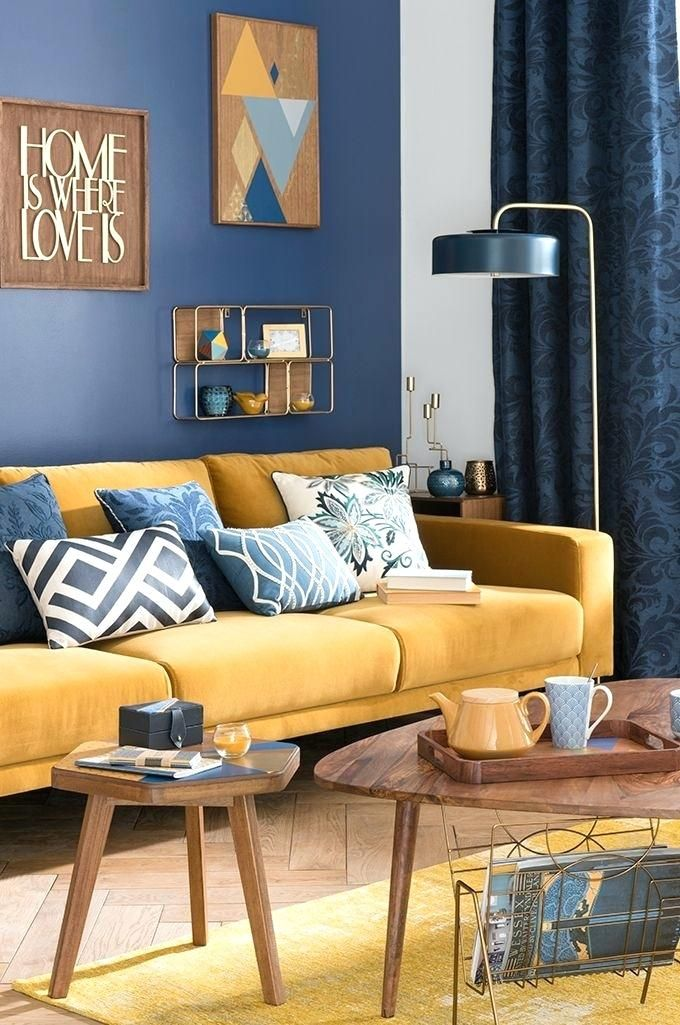 Yellow And Blue Lounge Ideas Brown Ng Room On The Best