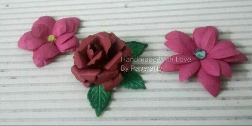Flowers are on d menu...... #handmadewithlovebypaperarty #handmadeflowers