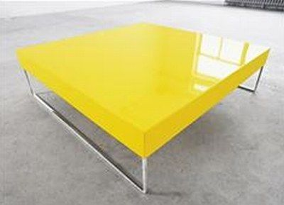 Attractive Unique Coffee Table For Modern Design : Simple Yellow Coffee Table