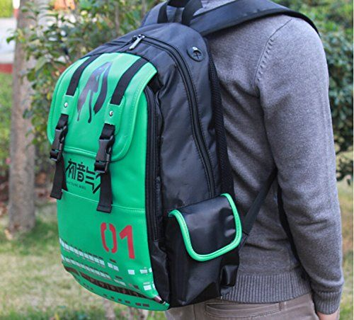 Demon World Anime Hatsune Miku Backpack Schoolbag Travel Backpack Casual Bags  - Click image twice for more info - See a larger selection of casual backpacks at http://kidsbackpackstore.com/product-category/kids-casual-backpacks/ - kids, kids backpack, school backpack, everyday backpack, school bag, gift ideas, teens backpacks.