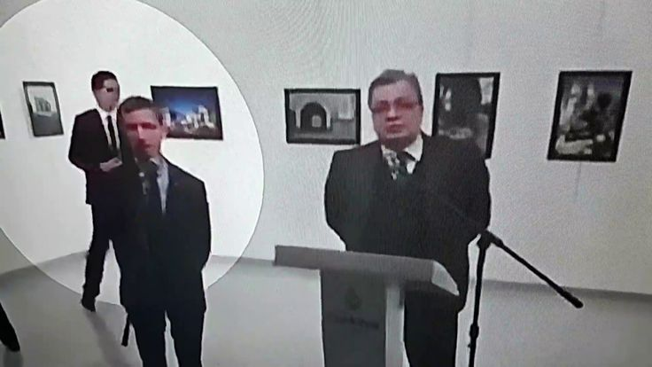 The Moments Before Russian Ambassador Shooting / LIVE TV