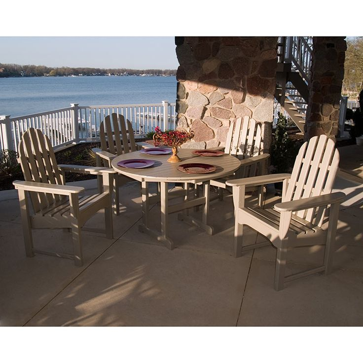 Durable Adirondack Style Outdoor Casual Chair | POLWOOD All Weather Patio  Dining Sets | USA Made Part 69