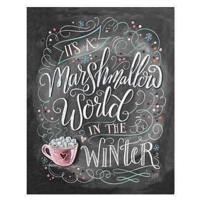 Marshmallow World -  Print #Christmas #Gifts #Holiday